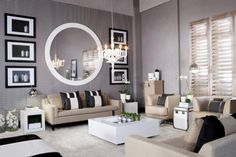 Home Decorating Style 2019 for Large Living Room Mirrors Cheap, you can see Large Living Room Mirrors Cheap and more pictures for Home Interior Designing 2019 at Best Home Living Room. Simple Living Room, Living Room On A Budget, Living Room Interior, Home Living Room, Living Room Furniture, Living Room Designs, Living Room Decor, Modern Living, Kelly Hoppen Interiors