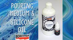 Pouring medium és szilikon olaj // Pouring medium and silicone oil