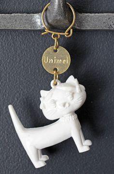 【 Unimel 】フランス ネコのキーホルダー (アンティーク・ヴィンテージ・ブロカント)