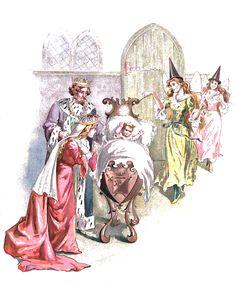Sleeping Beauty -- Artur Oppman -- Fairytale Illustration