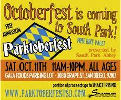 Parktoberfest is Coming to South Park this Saturday, October 11th!