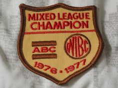 A Junkee Shoppe Junk Market Stop: ABC WIBC Mixed League Champion Bowling Patch 1976 Season ... For Sale Click Link Here To View >>>> http://ajunkeeshoppe.blogspot.com/2016/01/abc-wibc-mixed-league-champion-bowling.html