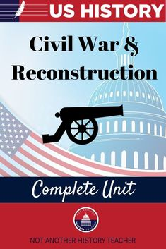 Enhance your teaching with this comprehensive United States History unit! This is the fourth unit in my full US History course! Unit 4 engages your students with in-depth information and activities about the Civil War and Reconstruction. Not only will this unit lead your students to master critical thinking skills, but it will make your life much easier. What are you waiting for? Add it to your cart to make this year a breeze.