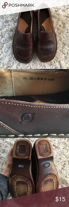 Born Shoes Born brown women loafers. Size7 1/2.  Gently loved, used only a few times. Factory cushioned insoles make these shoes super comfortable. Born Shoes Flats & Loafers