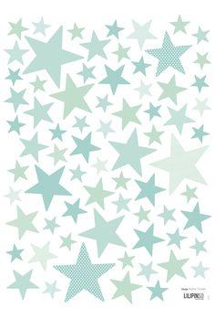 Lilipinso Wandsticker Set 'Sternenhimmel' mint/jadegrün 72-teilig - im Fantasyroom Shop online bestellen oder im Ladengeschäft in Lörrach kaufen. Besuchen Sie uns!