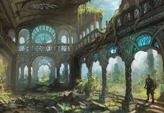 Once the Aeli ruled all of Asteran now only their ruins show us just how far their might stretched Elven city Fantasy landscape Fantasy city
