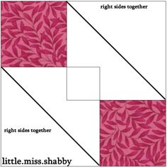 Hugs & Kisses Quilt Block Tutorial - Little Miss Shabby
