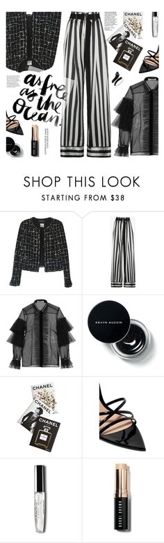 """Simple Pleasure"" by imurzilkina ❤ liked on Polyvore featuring Chanel, Ann Demeulemeester, Philosophy di Lorenzo Serafini, Assouline Publishing, Gianvito Rossi, Bobbi Brown Cosmetics and Effy Jewelry"