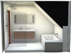 Loft Bathroom, Bathroom Plans, Bedroom Loft, Attic Spaces, Attic Rooms, Bathroom Installation, Attic Loft, A Frame House, Small House Plans