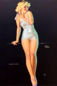 "Earl Moran - ""Shape Ahoy"" 1940′s"