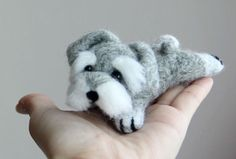 BubzBeauty - DIY Schnauzer Toy DIY needle felting tutorial.  Looks easy...