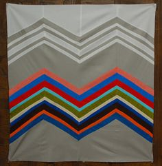 100 Days of Quilting – Week of Inspiration: This quilt was inspired by the zigzag based knitwear motifs of the Italian fashion house Missoni. Tutorial