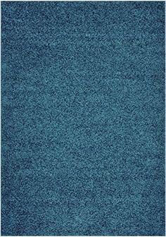 """Shaggy Collection Solid Color Shag Area Rugs (Petrol Blue, 4'x5'3"""") (4016) RugStylesOnline http://www.amazon.com/dp/B00K52I09G/ref=cm_sw_r_pi_dp_ga.1ub068AWY4"""