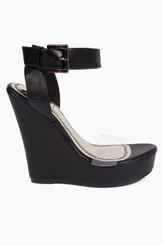 Affordable Cute black Wedges!