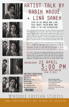 Join us on April 23rd to hear Rabih and Lina talk about their work and then open it up for discussion!