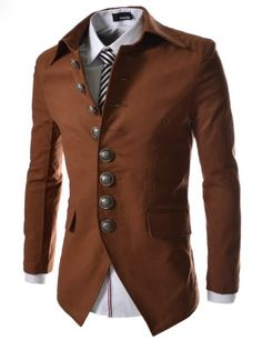 TheLees Mens Casual Slim 8 Button Jacket Blazer Brown Large(US Medium) TheLees,http://www.amazon.com/dp/B00CBQ4RIM/ref=cm_sw_r_pi_dp_87ejtb02GYP8MPMY