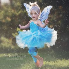 Items similar to Periwinkle Fairy Costume Tutu Dress Tinkerbell and Friends on Etsy Tinkerbell Dress, Tinkerbell Disney, Tinkerbell Fairies, Periwinkle Fairy, Periwinkle Dress, Disney Inspired Dresses, Velvet Leggings, Dresses With Leggings, Tutu