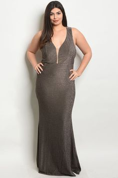 a860a94be34 BRONZE PLUS SIZE DRESS Cocktail Gowns