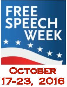 Free Speech Week, October 17 - 23, 2016