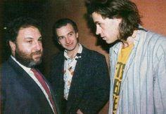 """davidrfuller: """"Harvey Goldsmith, John Richard Deacon, and Bob Geldof…"""