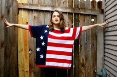 Red White and Blue American Flag Vintage Shirt / One by Nine89, $48.00