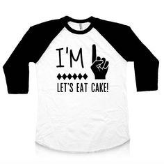 Items similar to First Birthday Shirt Birthday Shirt Birthday Raglan Boy First Birthday Shirt Girl Birthday Toddler Shirt I'm This Many on Etsy 1st Birthday Shirts, Eat Cake, First Birthdays, Trending Outfits, Unique Jewelry, Etsy, Tops, Women, Fashion