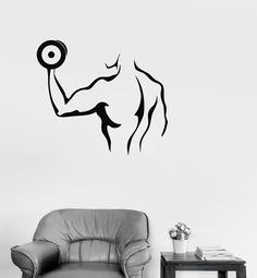 Vinyl Decal Gym Bodybuilding Fitness Strongman Sports Decor (ig209)