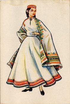 Abrene Women's Folk Costume (Latvia)
