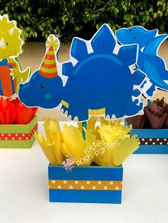 Dinosaur centerpiece, Dinosaur Birthday Party Centerpieces Favor Treats PRICE PER PIECE (YOU MAY PURCHASE IN ANY AMOUNT, ANY CHARACTER) If you would like to purchase the entire set, you can purchase here...