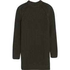 NLST Fisherman chunky-knit sweater dress, Green, Women's, Size: M ($905) ❤ liked on Polyvore