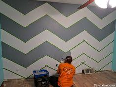 wall designs with paintpainters tape design  Chesty Changes  diy  Pinterest  Painters