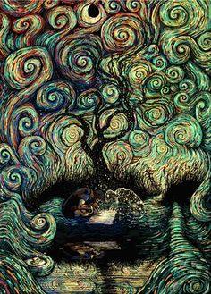 11 ilustrações psicodélicas inspiradas na natureza e no cosmos - Mega Curioso