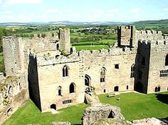 Ludlow Castle North Range View - home of the Plantagenets (ancestors on both sides)