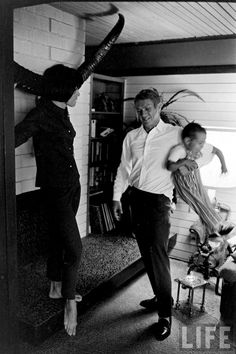 Steve McQueen with family