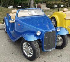 Blue California Roadster 4 seat golf cart Best Golf Cart, Best Golf Clubs, Mens Nike Golf Shoes, Golf Clubs For Beginners, Golf Breaks, Custom Golf Carts, Golf Lessons, Golf Gifts, Golf Fashion