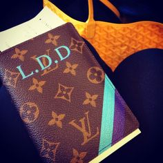 LV Monogrammed Passport Wallet