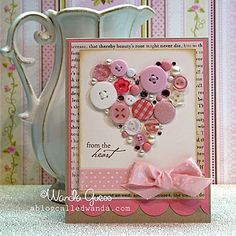 Shabby Chic Button Heart