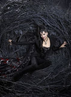 Evil Queen Regina from Once Upon a Time... The bad girls ALWAYS have the best outfits!.....love this show