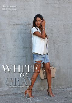 White on Gray. from sincerelyjules.com