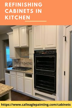 Refinishing Cabinets In Kitchen If you've got a rustic kitchen and want to add a modern touch, consider your cabinetry. White cabinets and stainless steel appliances help it feel clean and fresh. Kitchen Cupboard Doors, New Kitchen Cabinets, Painting Kitchen Cabinets, White Cabinets, Kitchen Appliances, Cabinet Makeover, Stainless Steel Appliances, Rustic Kitchen, Touch