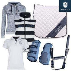 Neue HV Polo Kollektion: HV Polo Sweater Pines, HV Polo Weste Zana, HV Polo Schabracke Blue Springs, HV Polo Gamaschen Dallas, HV Polo Halfter Cosmo und HV Polo Shirt Beil Equestrian Fashion, Equestrian Style, Hv Polo, Cosmo, Dallas, Polyvore, Fashion Styles, Spats Shoes, Horseback Riding
