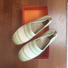 Tory Burch Espadrilles Basically brand new! Just purchased and wore them out to go get coffee and realized I need to go half a size up. Perfect condition! Super comfortable! Tory Burch Shoes Espadrilles