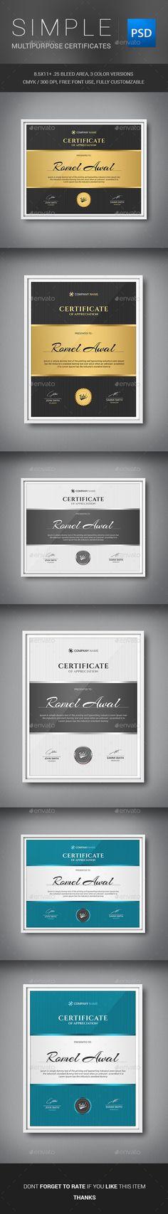 A3 Certificate Template Certificate, Template and Certificate design - corporate certificate template
