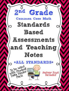 UNPACKING the Common Core Standards! Included with these assessments are teaching notes that break down the Common Core Standards into easy to understand language. Perfect for schools switching to Common Core, standards based grading, or even to track students' data. The teaching notes are really helpful to see where students need to be by test time!$