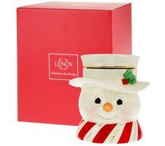 Lenox Limited Edition Porcelain Figural Cookie Jar w/Gift Box