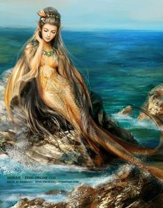 Enchanting mermaid fairy art #mermaid #FantasyArt