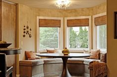 Hardwood, Crown molding, Eclectic, Modern, Window seat, Flush/Semi-Flush Mount