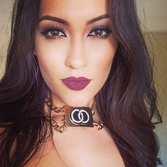gorgeous night time look love the deep matte lips