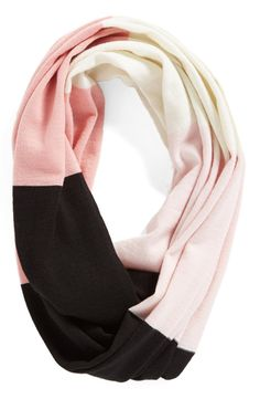 kate spade new york 'large colorblock' infinity scarf