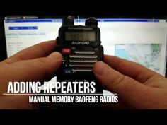 Baofeng Radio: Repeater Programming (Manually) - YouTube